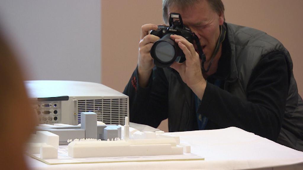 Prezentace modelu nového komplexu budov