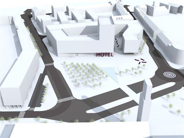 Vizualizace komplexu budov - nadhled