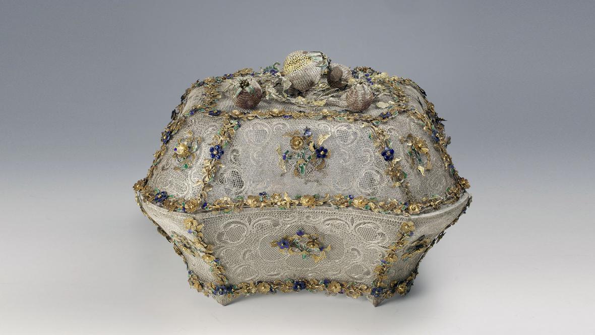 Dóza z toaletní sady, kolekce Kateřiny II. Veliké, 1740-1750