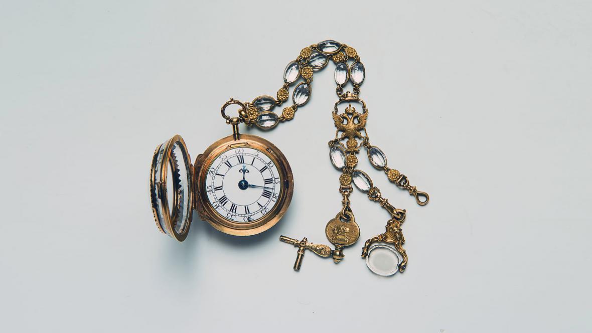 Kapesní hodinky od hodináře Josepha Duddse, pol. 18. st.