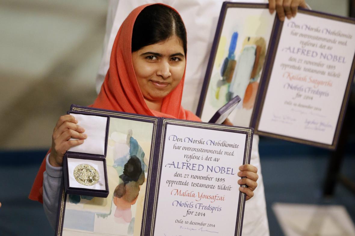Malala Júsufzaiová převzala Nobelovu cenu míru