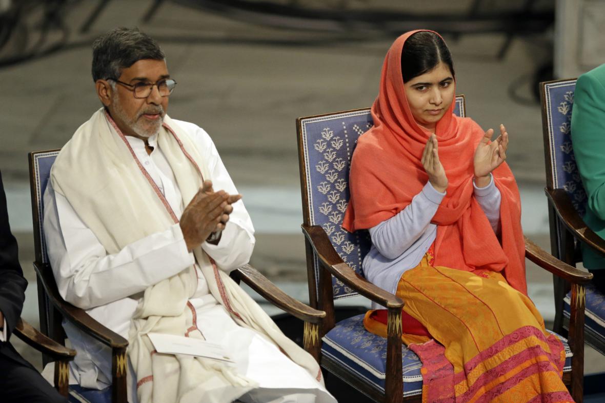 Júsufzaiová a Satjárthí převzali Nobelovu cenu míru