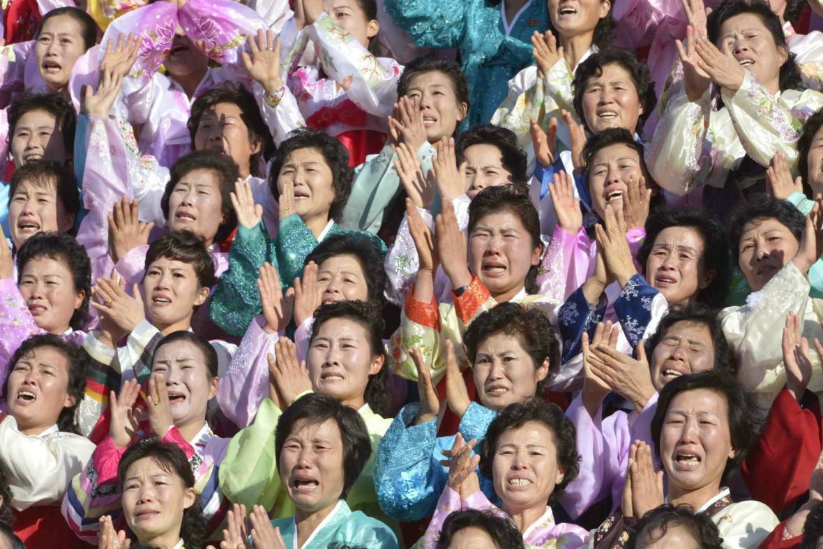 Manželky severokorejských vojáků se sešly s Kim Čong-unem
