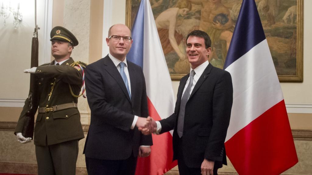 Bohuslav Sobotka se setkal se svým francouzským protějškem Manuelem Vallsem