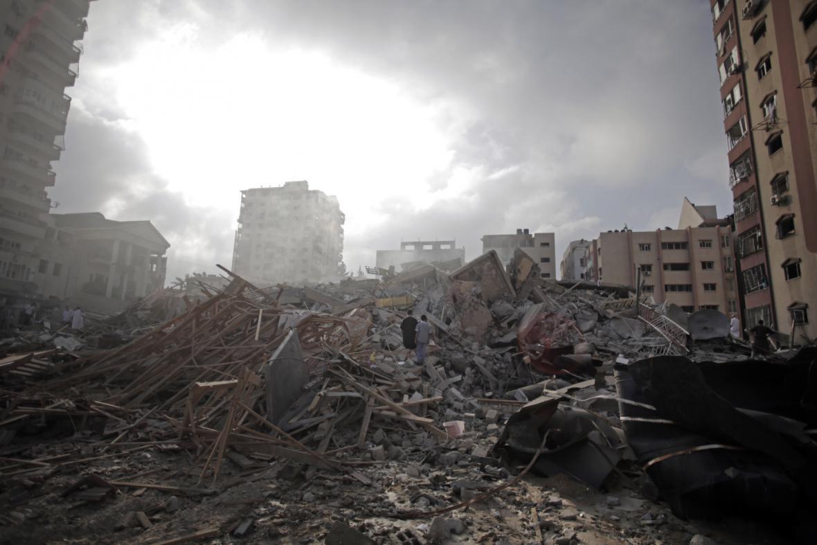 Gaza těžce poškozená boji