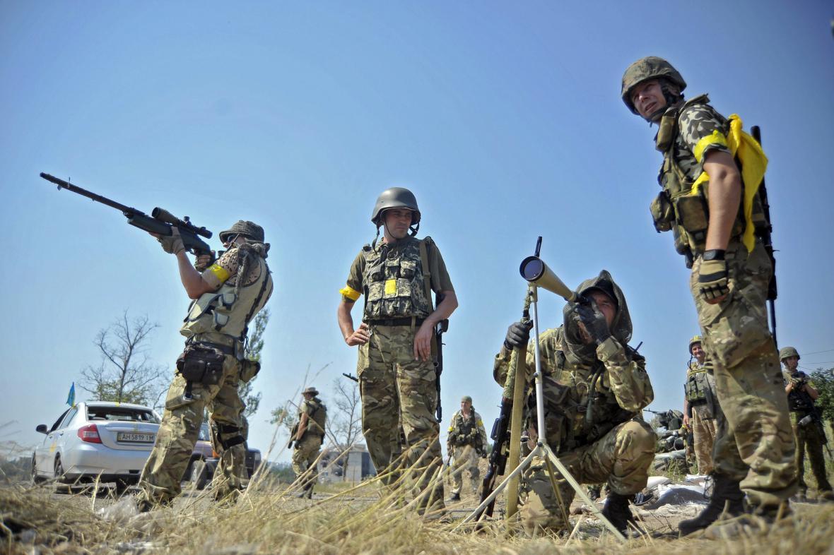 Hlídka ukrajinské armády