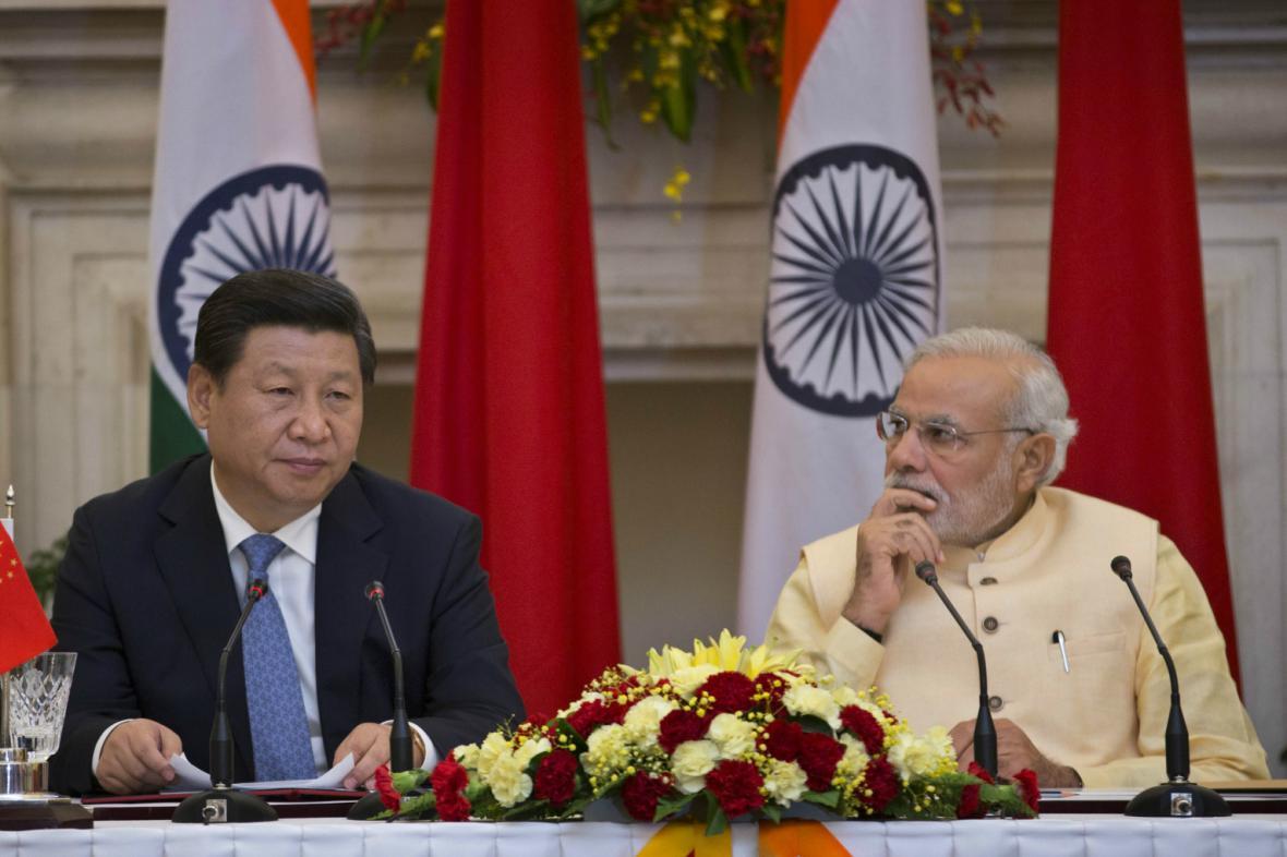 Čínský prezident při návštěvě Indie
