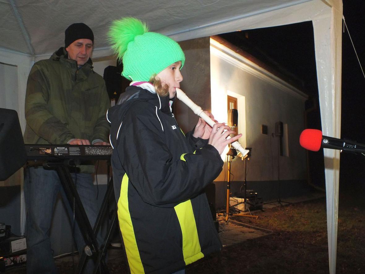Mikulášská nadílka v Mladkově u Boskovic