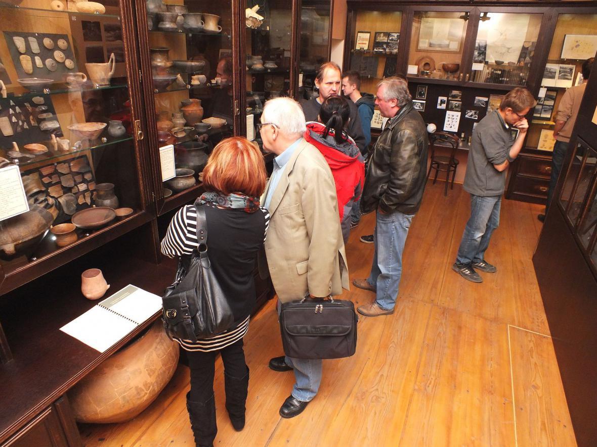 Návštěvníci akce v Muzeu Boskovicka
