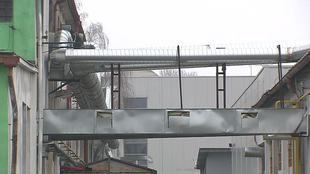 Vzduchotechnika v areálu zinkovny