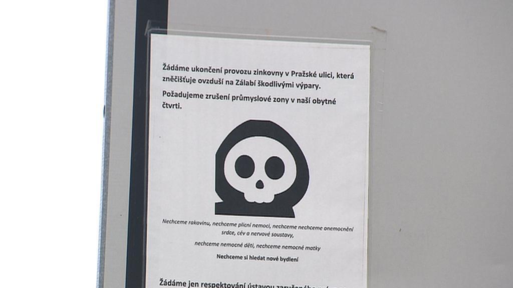 Protestní leták proti zinkovně