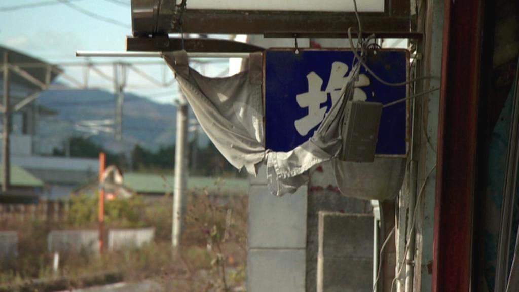 Záběry ze zničené oblasti u Fukušimy