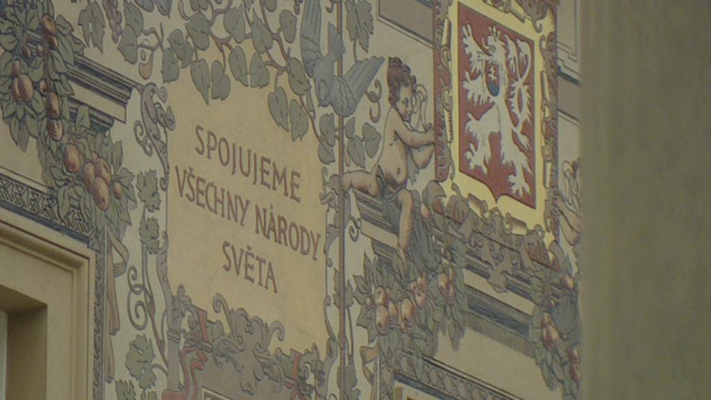Výzdoba stěn od K. V. Maška