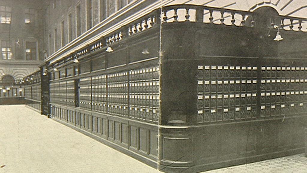 Historické P.O.Boxy na archivní fotografii