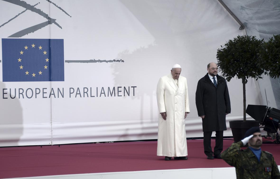 Papež František na návštěvě europarlamentu