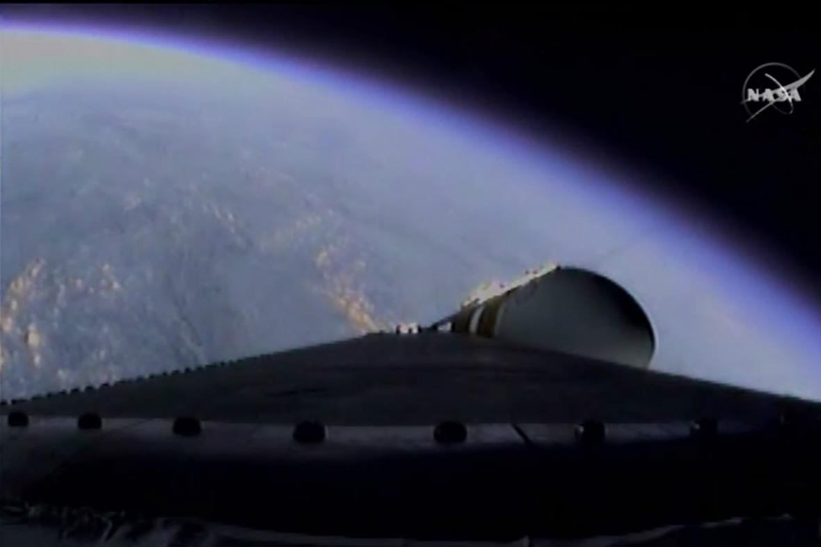 Fotografie pořízená při startu Orionu