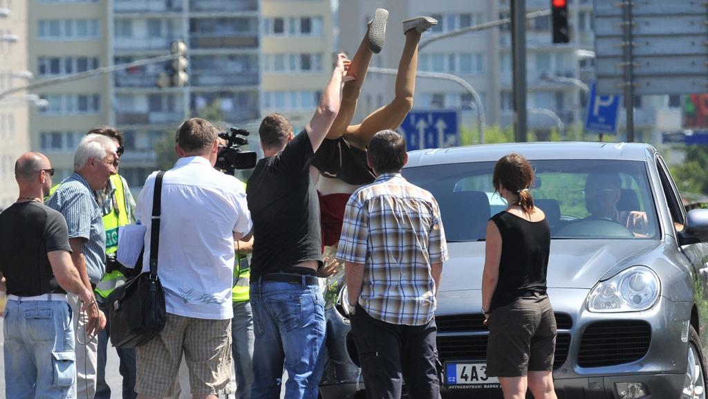 Rekonstrukce nehody v pražské Vyskočilově ulici
