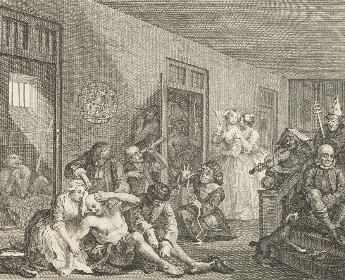 William Hogarth / A Rake's Progress (Vzestup zpustlíka) VIII