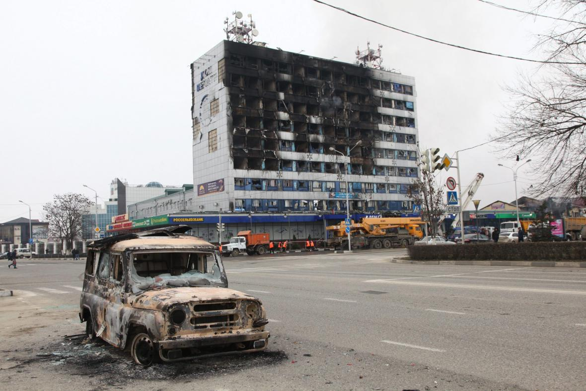 Groznyj po teroristickém útoku islamistů
