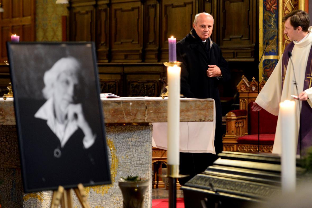 Michal Horáček na pohřbu Petra Hapky