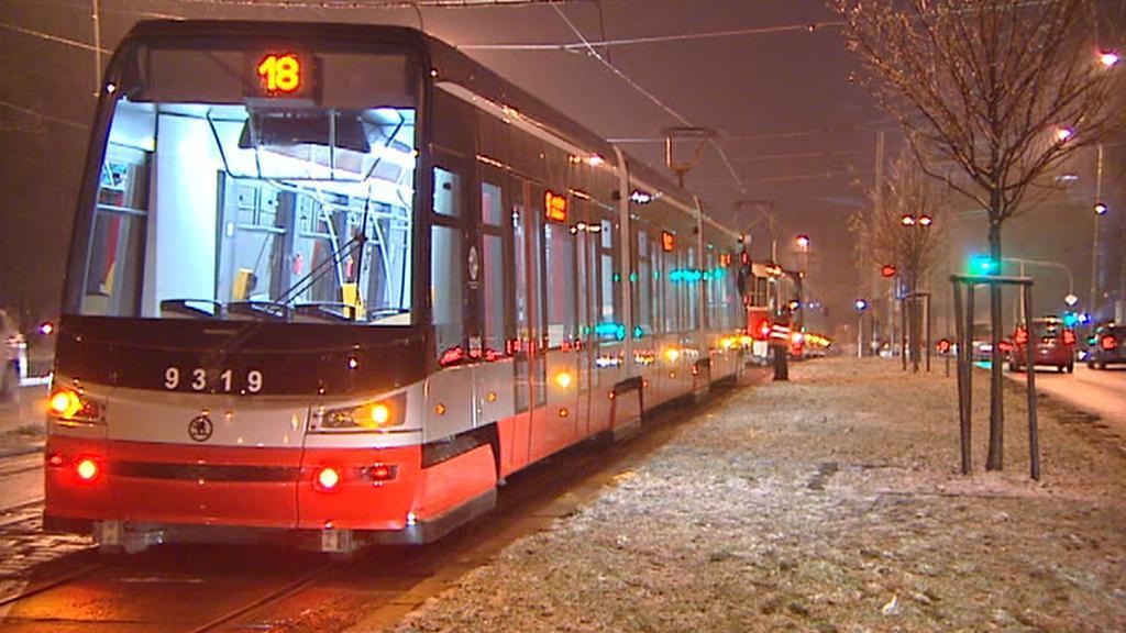 Odstavené tramvaje v Praze