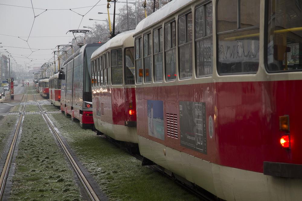 Ledovka a tramvaje