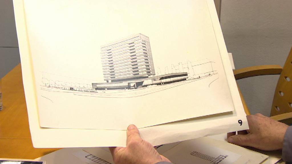Původní návrh hotelu Černigov