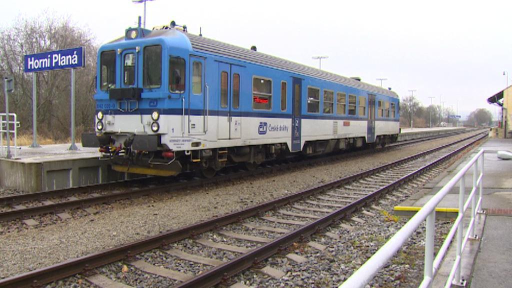 Vlak na nádraží v Horní Plané