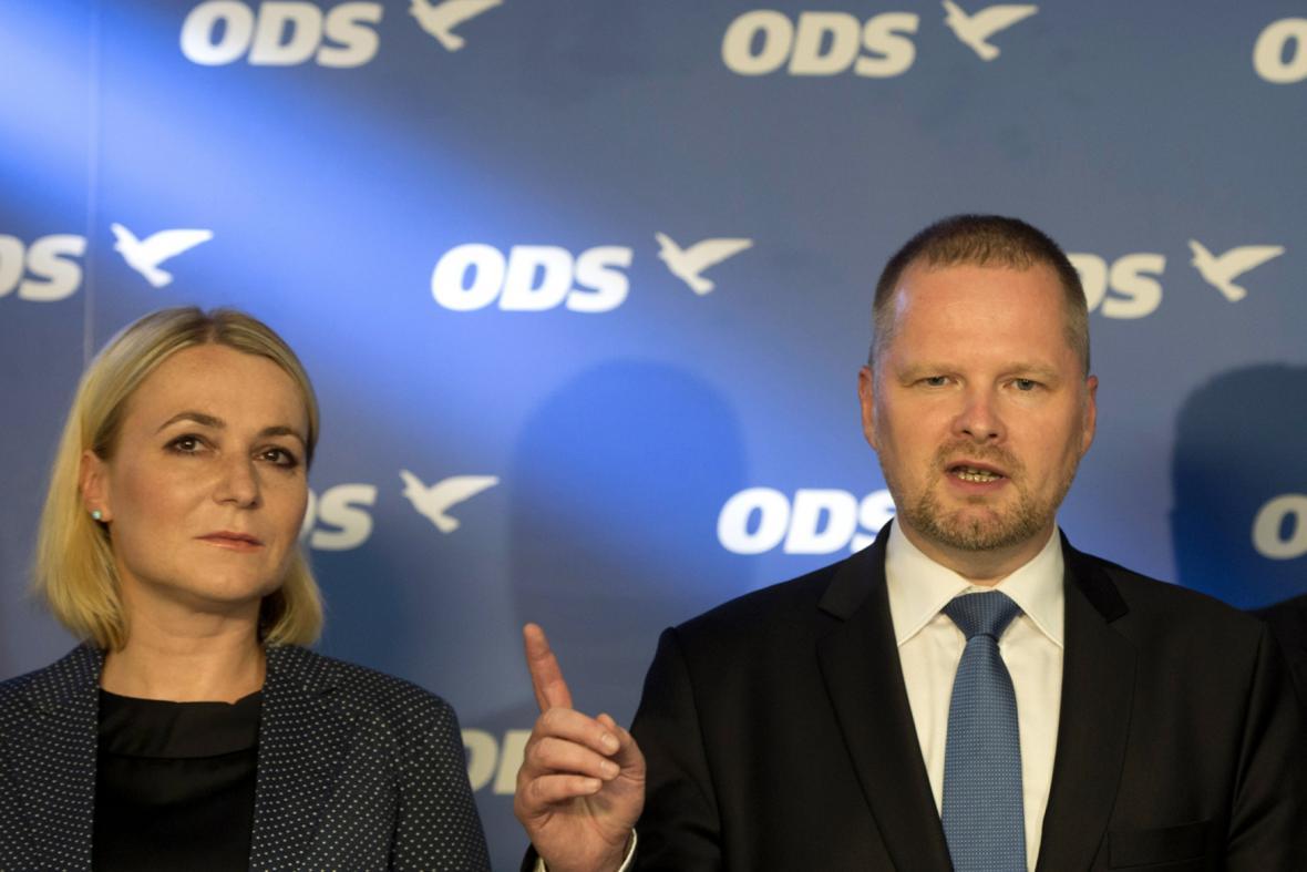 Jana Černochová (ODS) a Petr Fiala (ODS)
