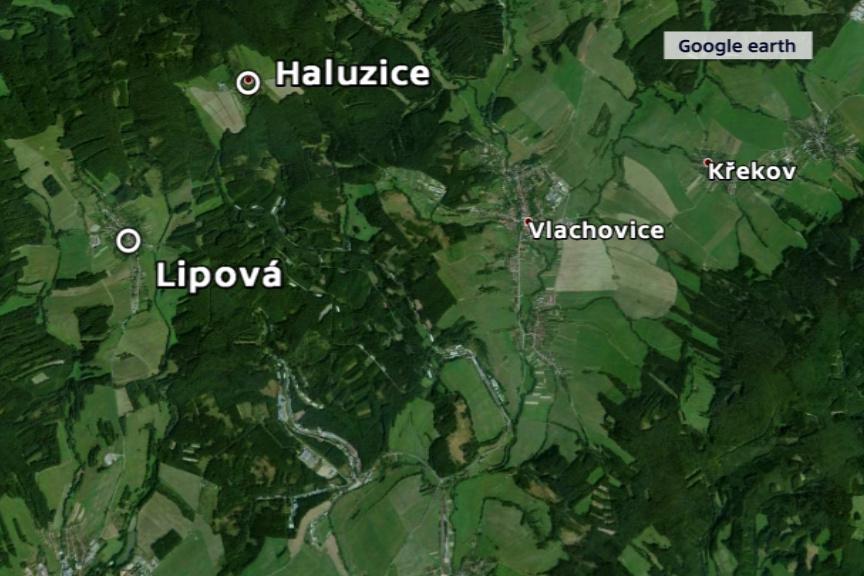 Evakuované obce - Haluzice a Lipová - jsou místu výbuchu blíž než Vrbětice