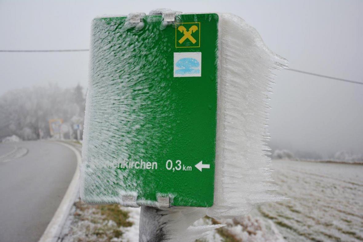 Námraza v Rakousku