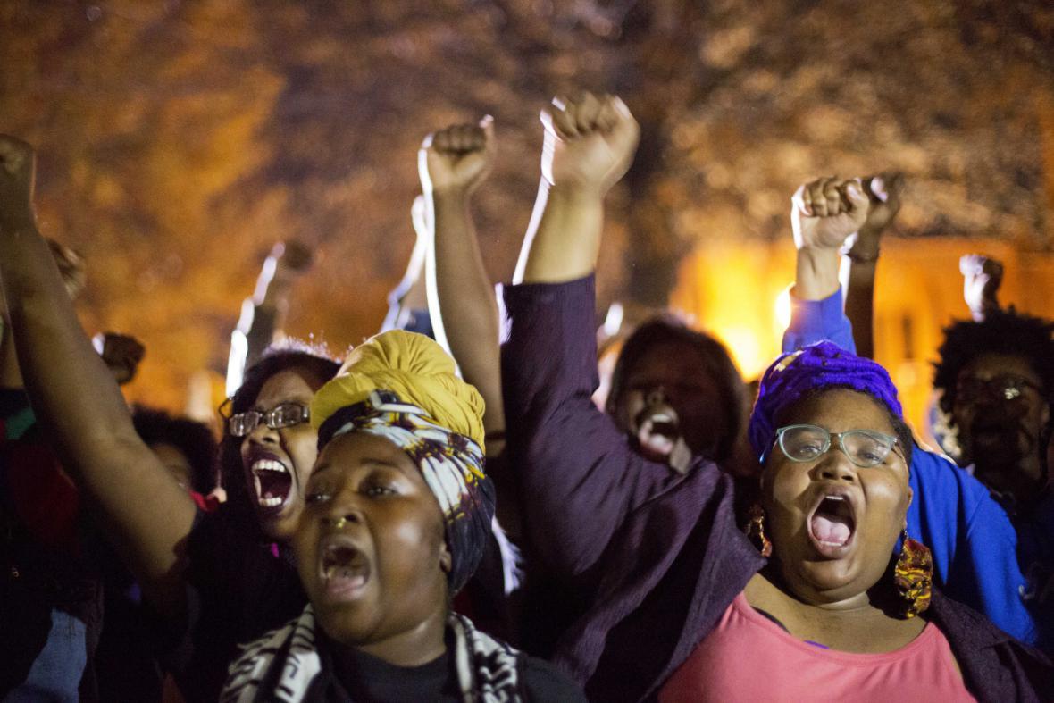Demonstrace kvůli incidentu ve Fergusonu