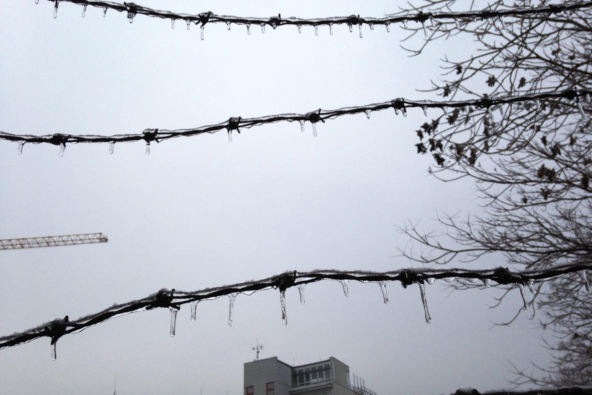 Brno trápí ledovka
