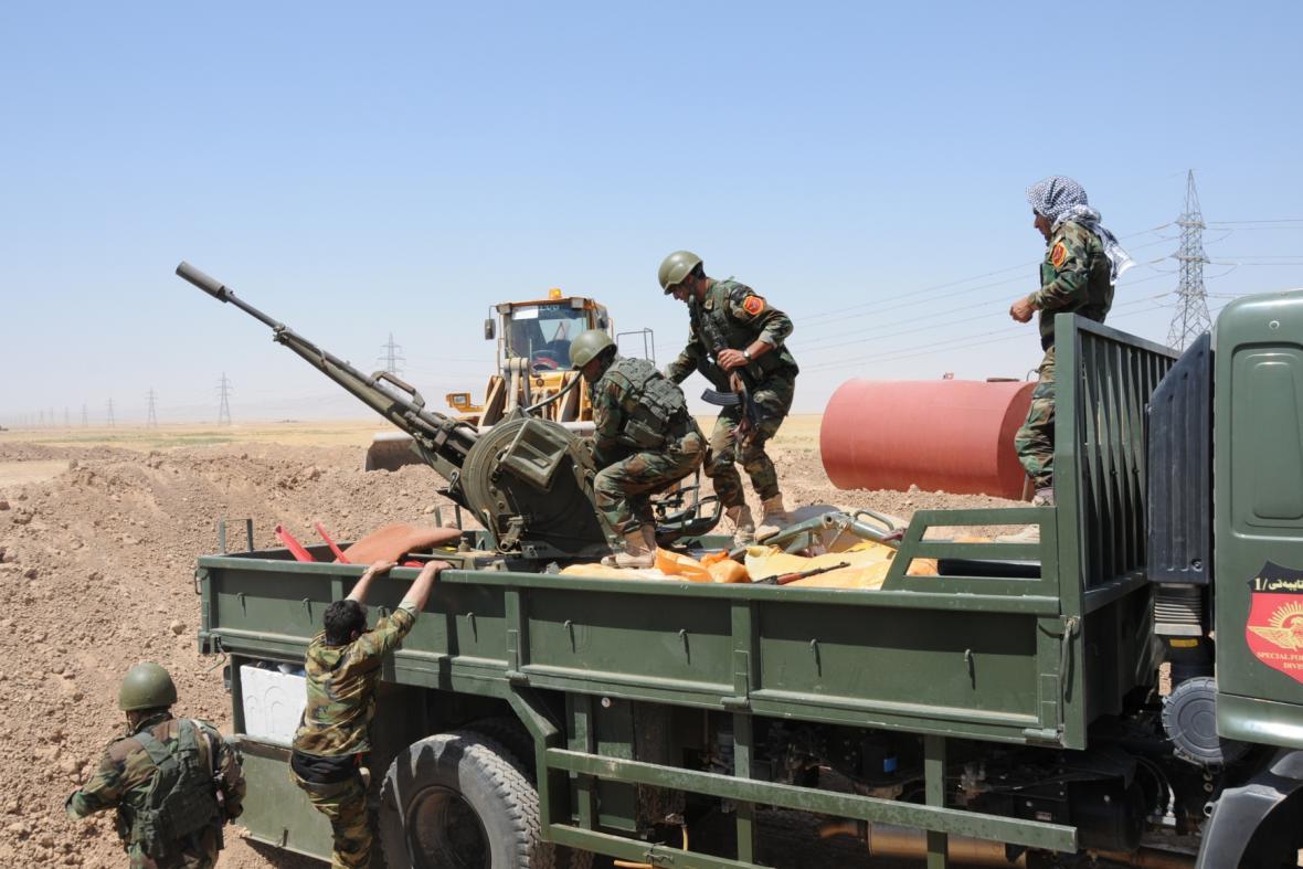 Kurdské jednotky v Iráku