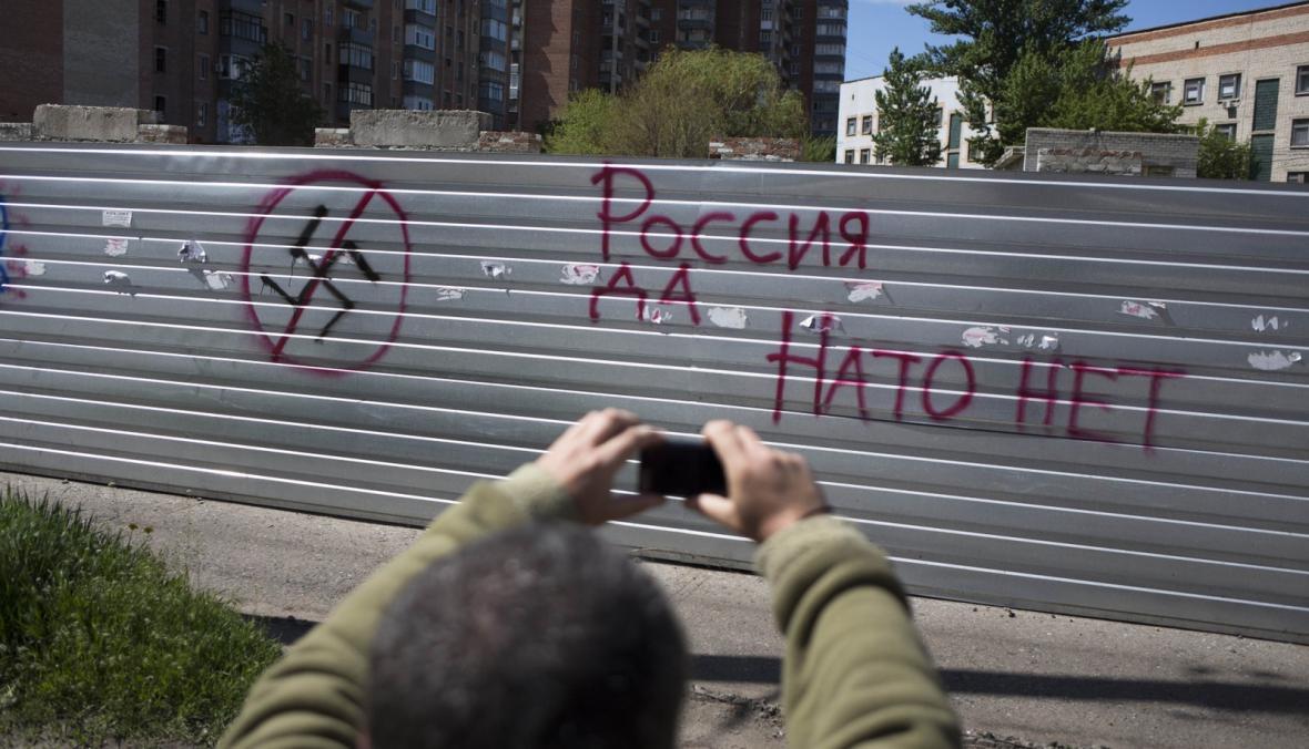 Odpor proti organizaci NATO na východě Ukrajiny
