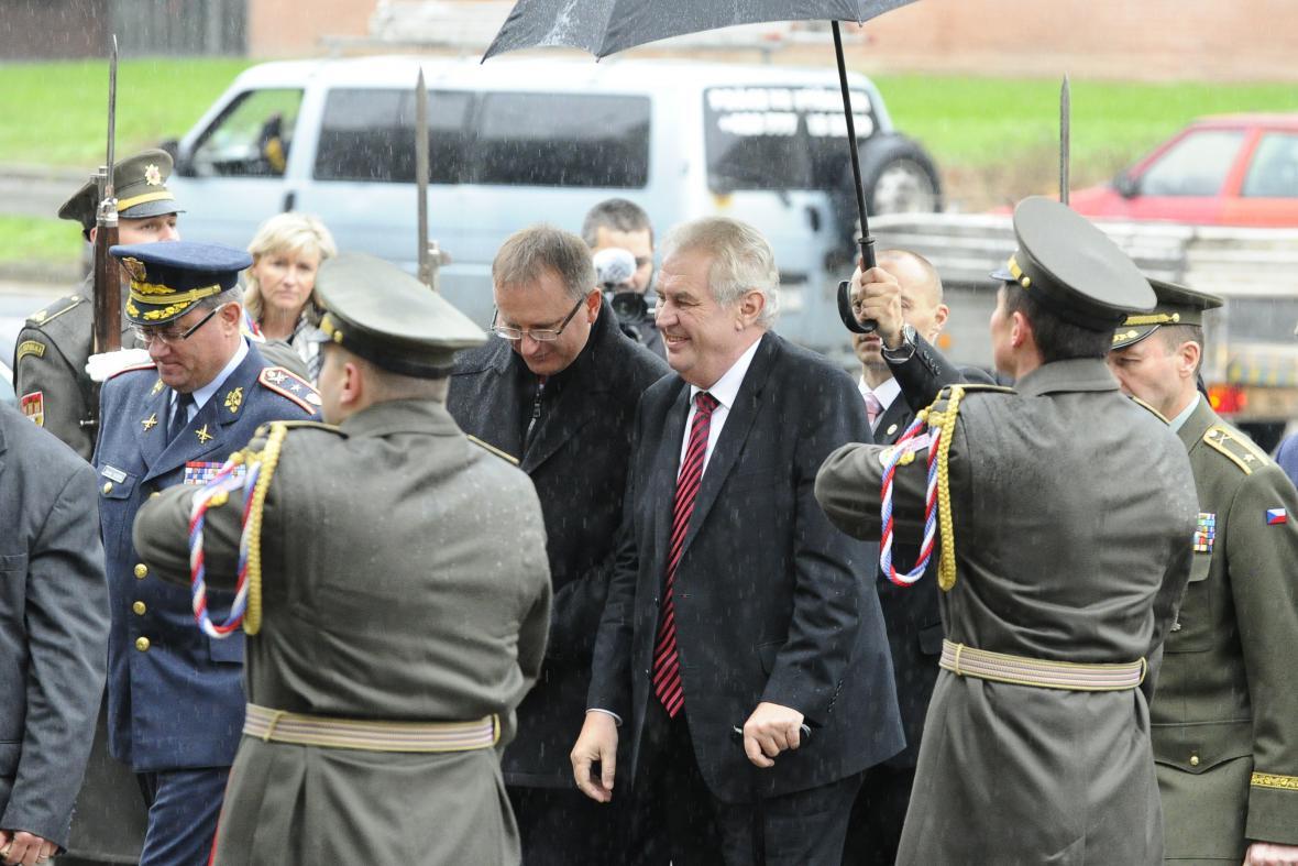 Prezident Miloš Zeman na Univerzitě obrany