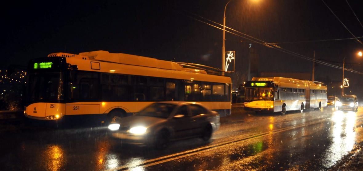 Trolejbusy na Jižních Svazích ve Zlíně