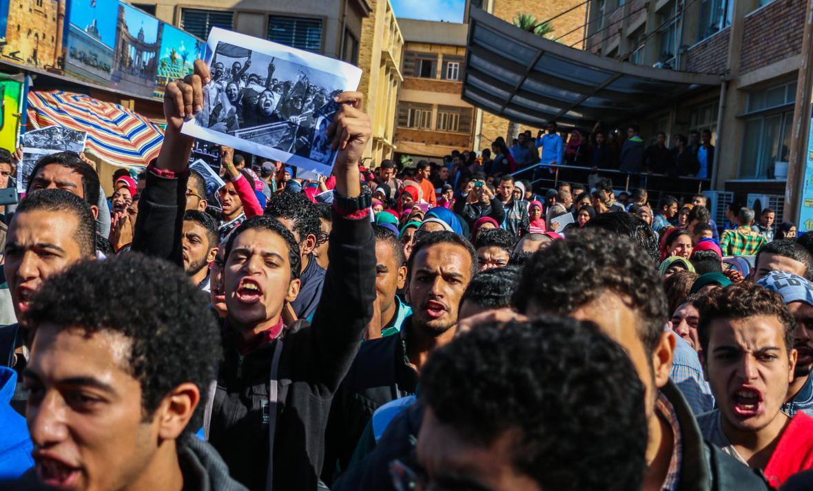 Protesty na Alexandrijské univerzitě
