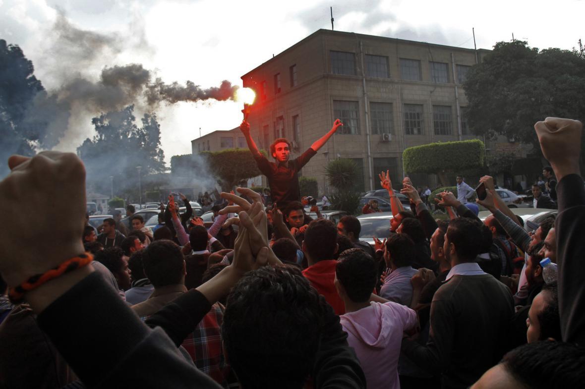 Protesty na Káhirské univerzitě