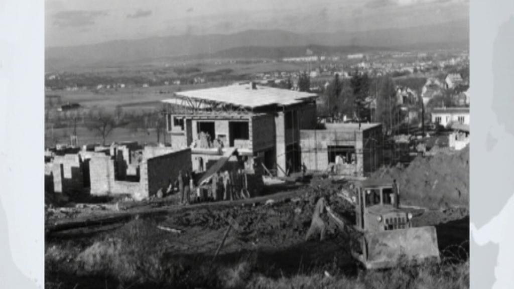 Výstavba SOS dětské vesničky v roce 1969