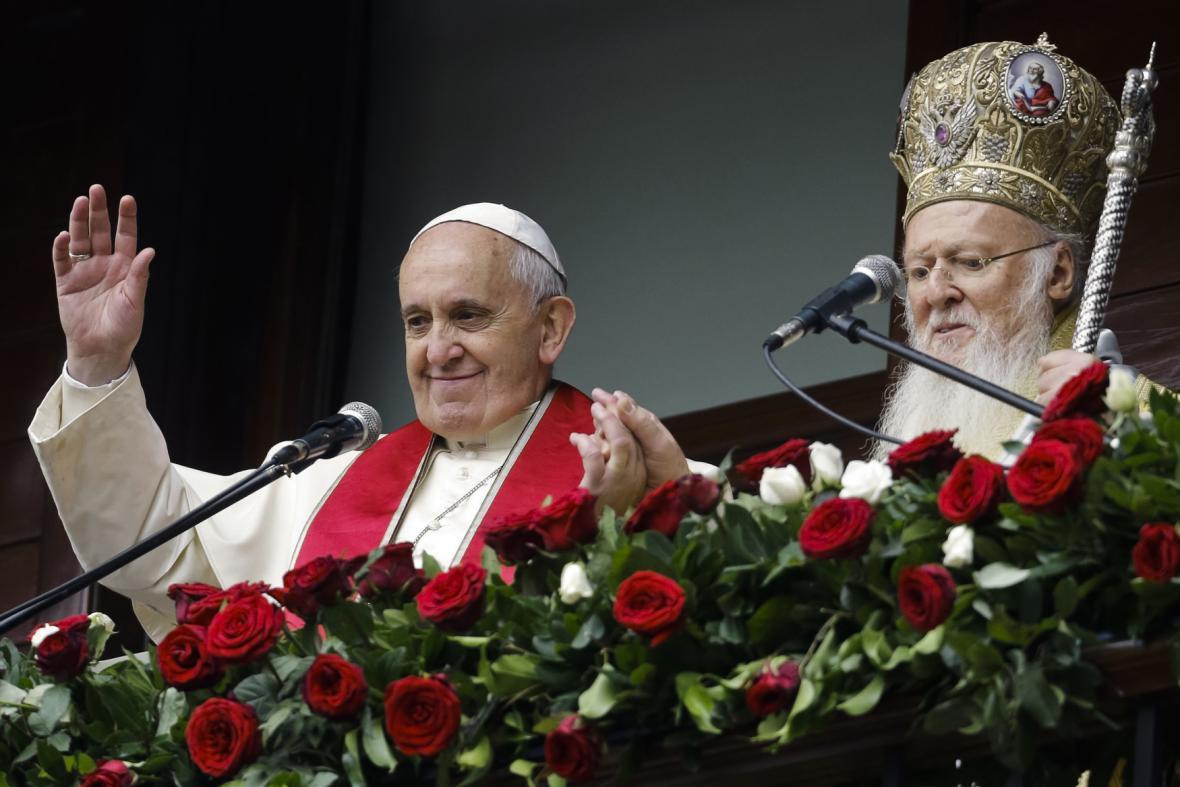 Papež František a patriarcha Bartoloměj