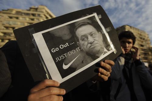 Demonstrace proti Husnímu Mubarakovi