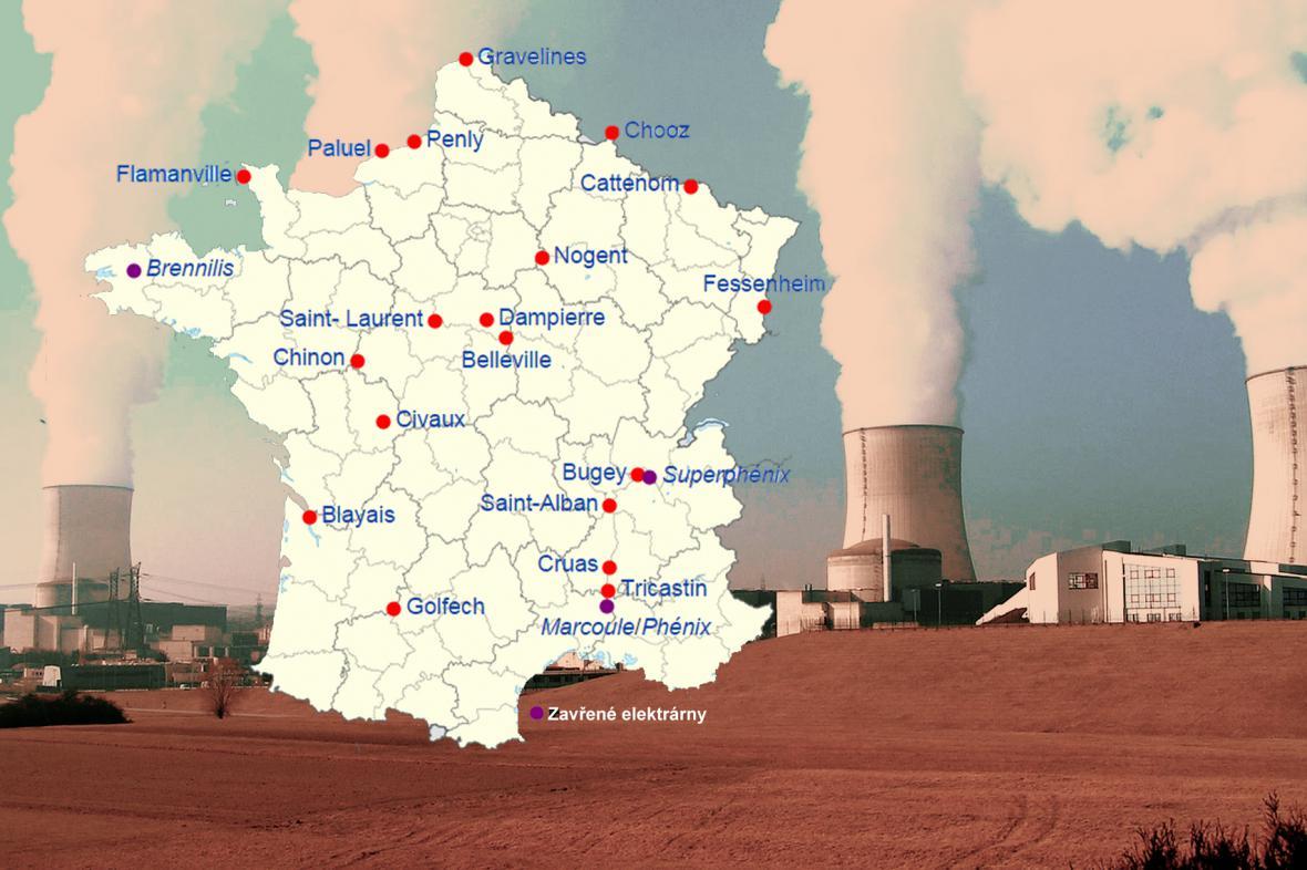 Jaderné elektrárny ve Francii