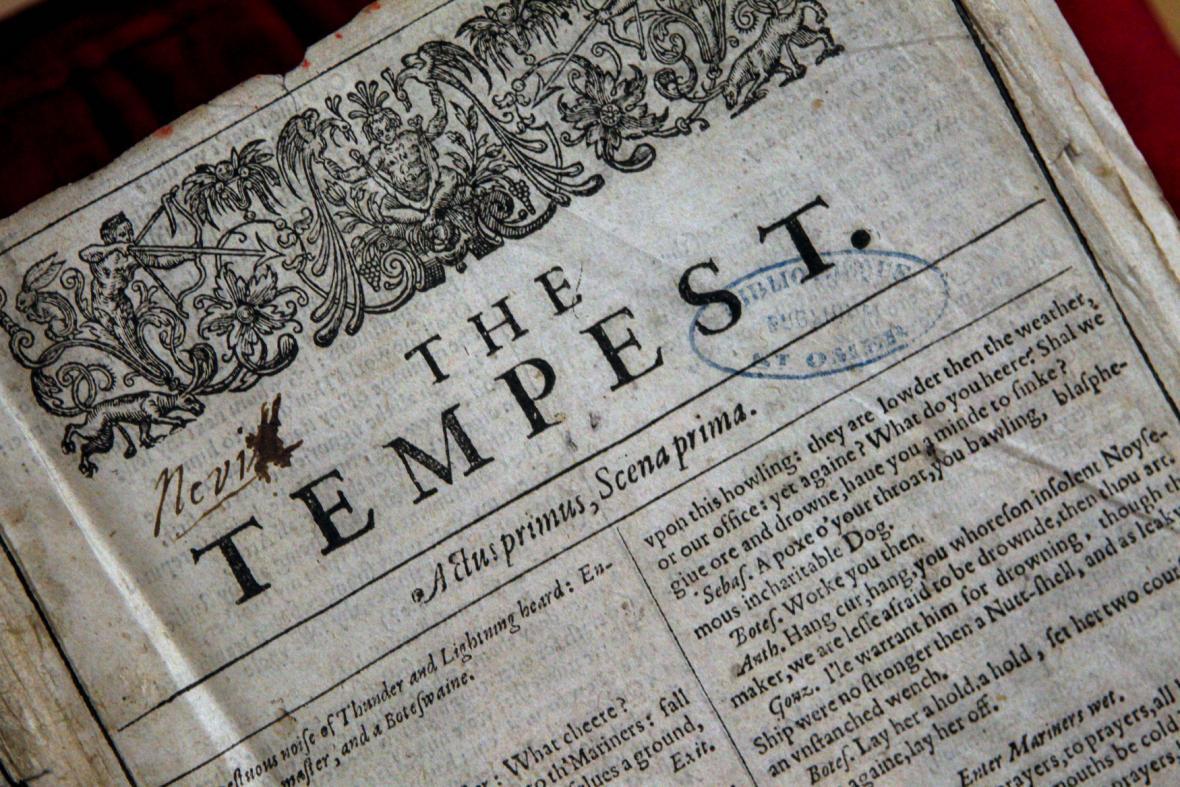 Originál Shakespearova Prvního Folia - hra Bouře