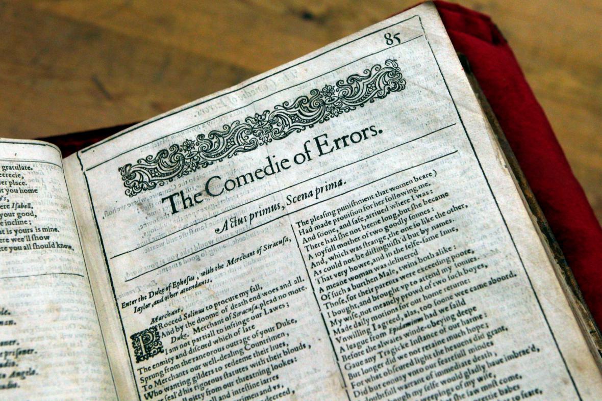 Originál Shakespearova Prvního Folia - Komedie omylů