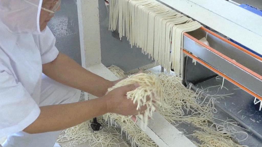 Výroba nudlí v japonském městě Takamacu
