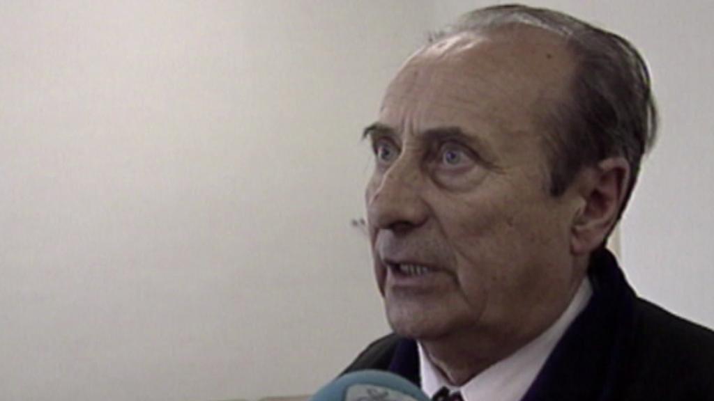 Soudce Jiří Bernát při soudu s L. Zifčákem