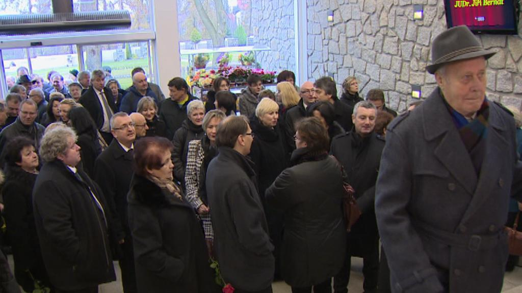 Pohřeb soudce Jiřího Bernáta