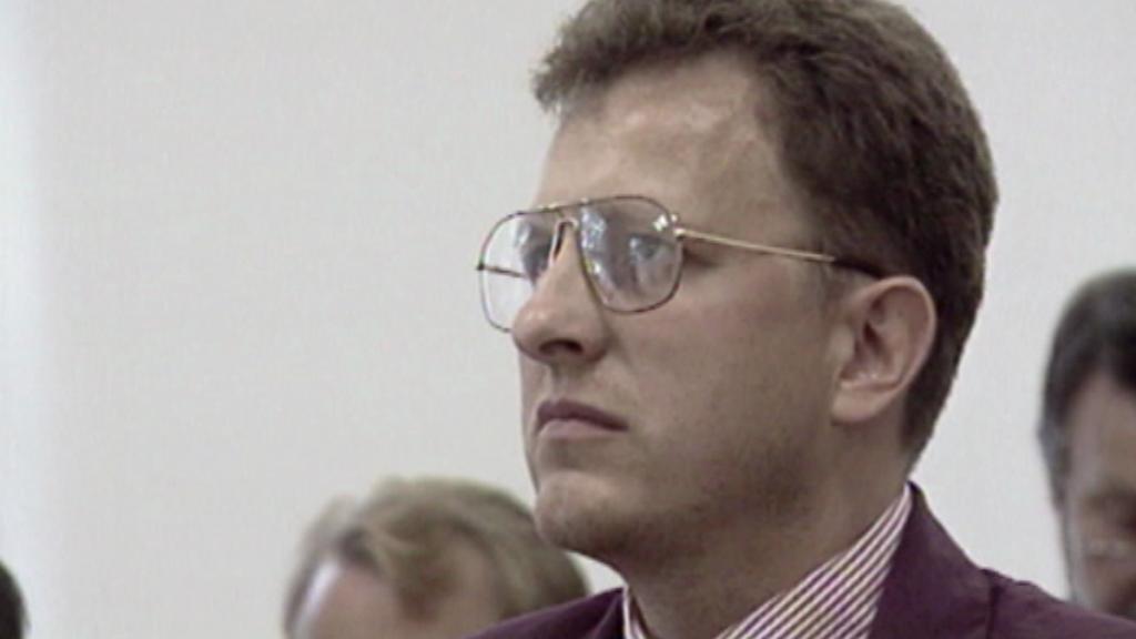 L. Zifčák u soudu v roce 1994