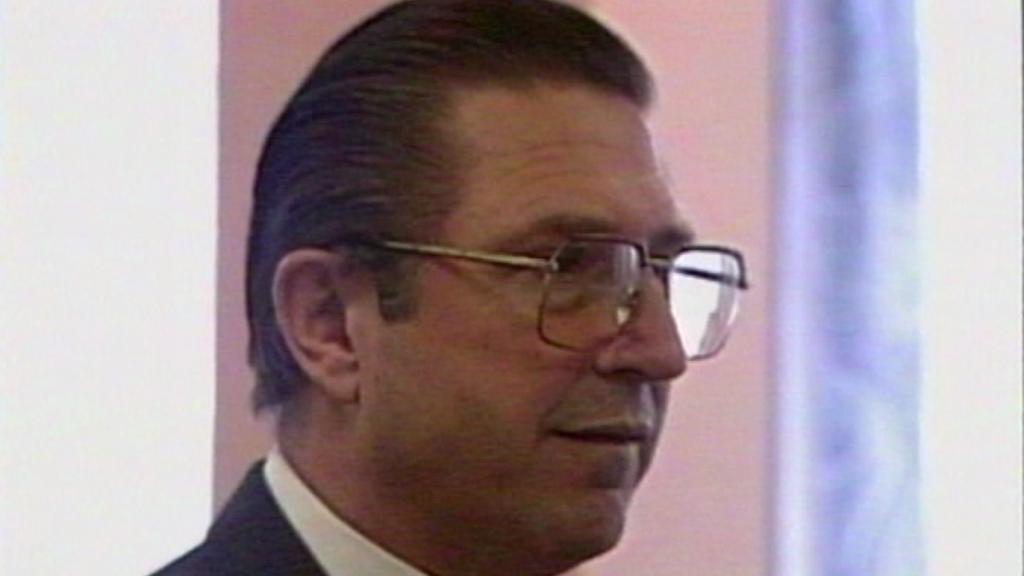 Alojz Lorenc na archivní záběru ze soudního líčení